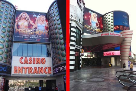 Planet Hollywood Entrance Before and After